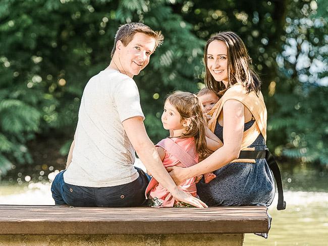 Anna und Philipp Sauer Familienfoto
