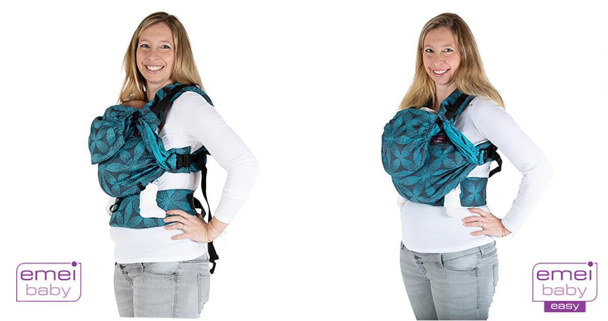 easy emeibaby und emeibaby Babytrage Vergleichsbild